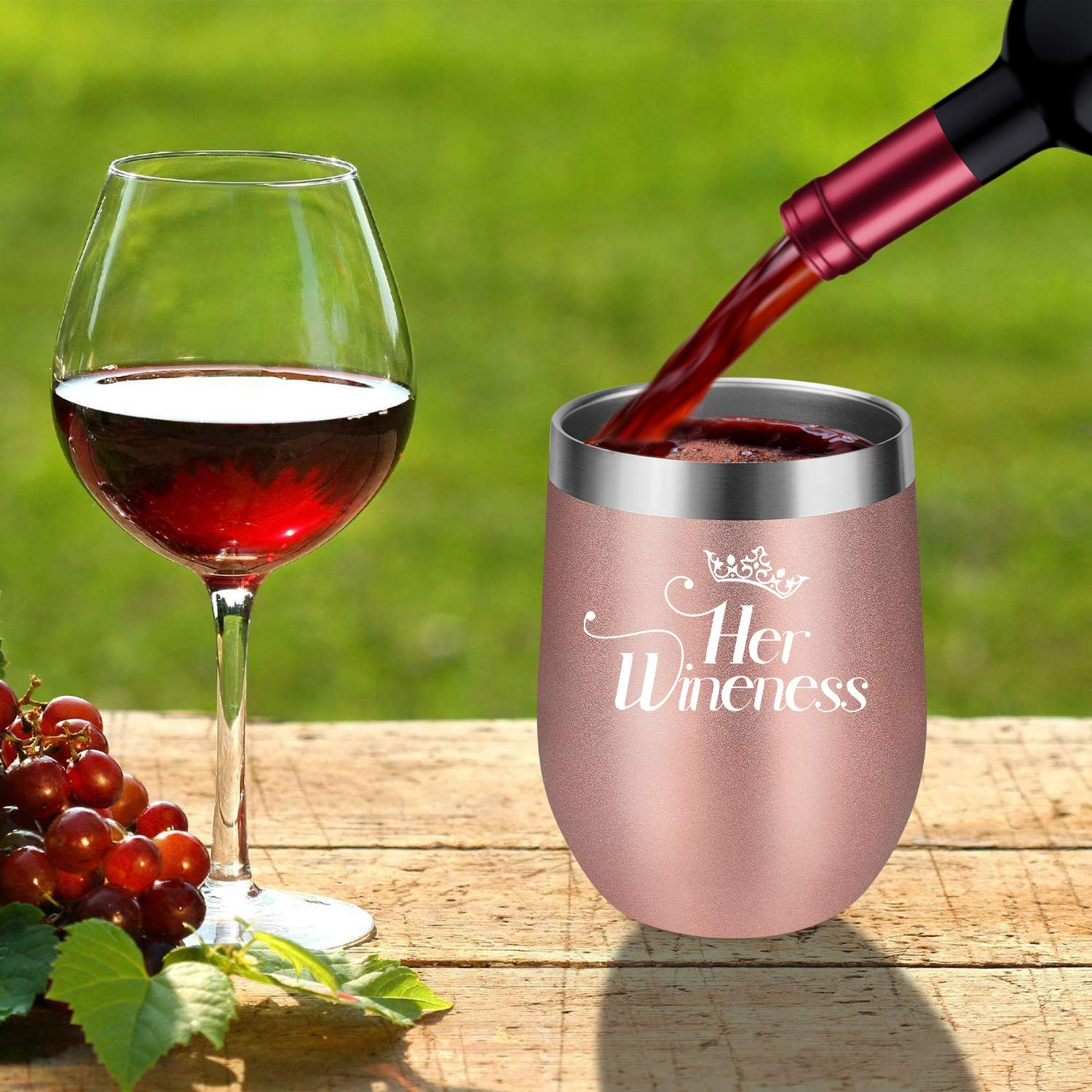 Stainless Steel Wine Tumbler Royal Wineness Gl With Lid Unbreakable Gift Bottle Openers